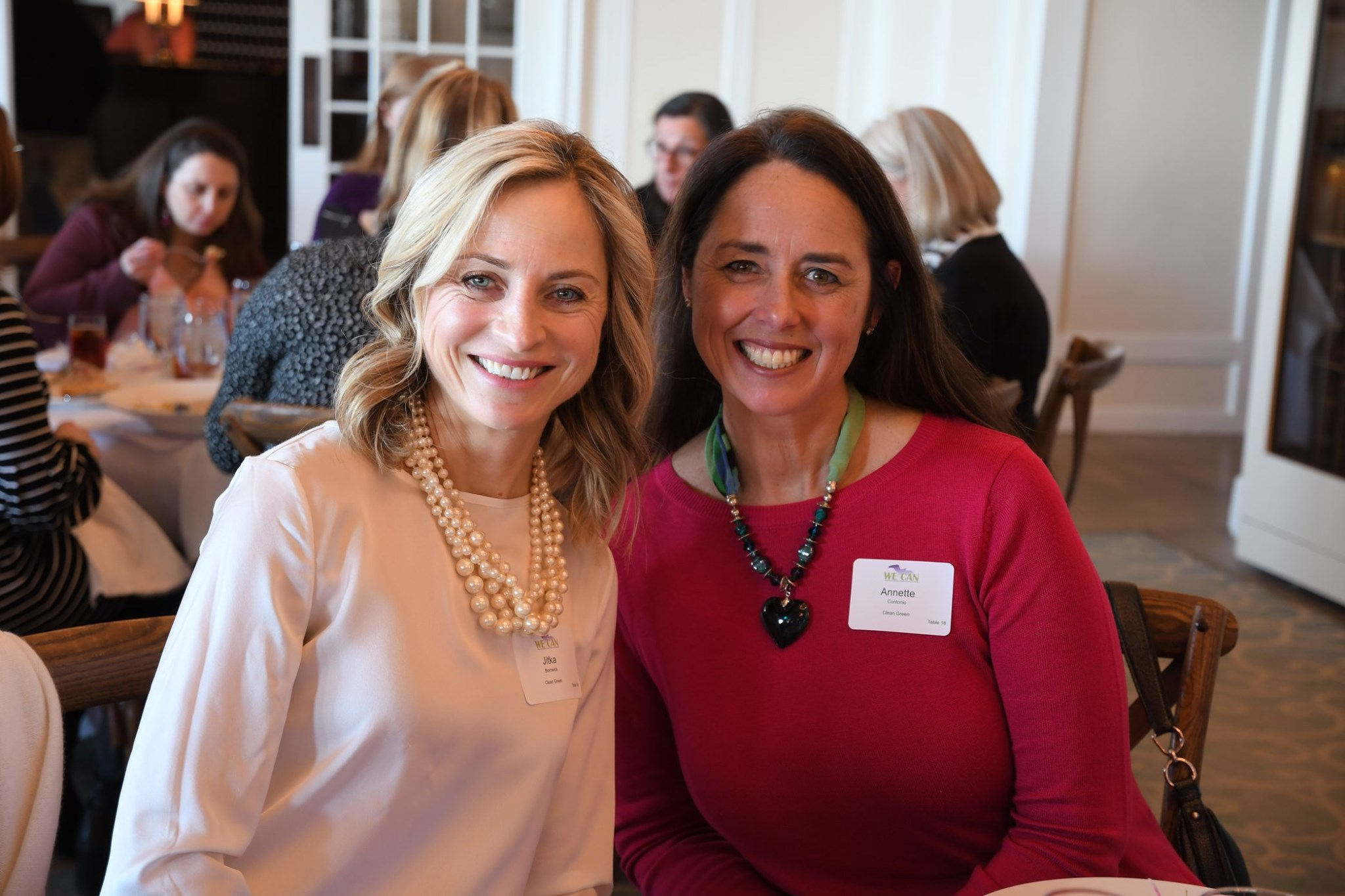 Jitka Borowick with Annette Contonio at the WE CAN Valentine'